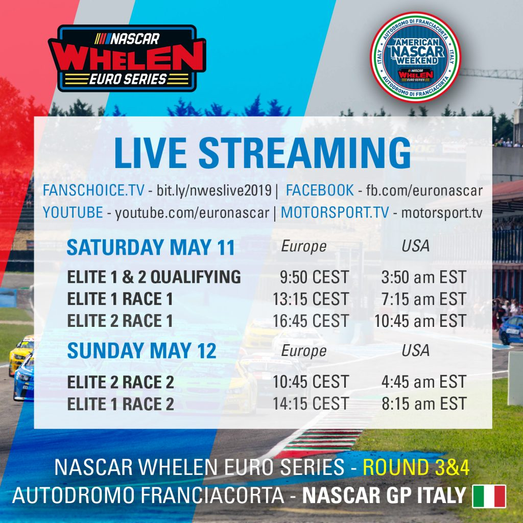 Streaming Schedule Square Franciacorta 2019