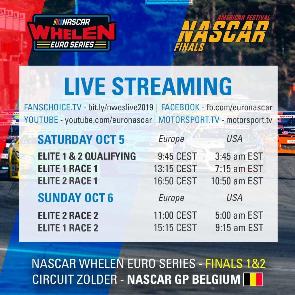 Streaming Schedule Square Zolder 2019