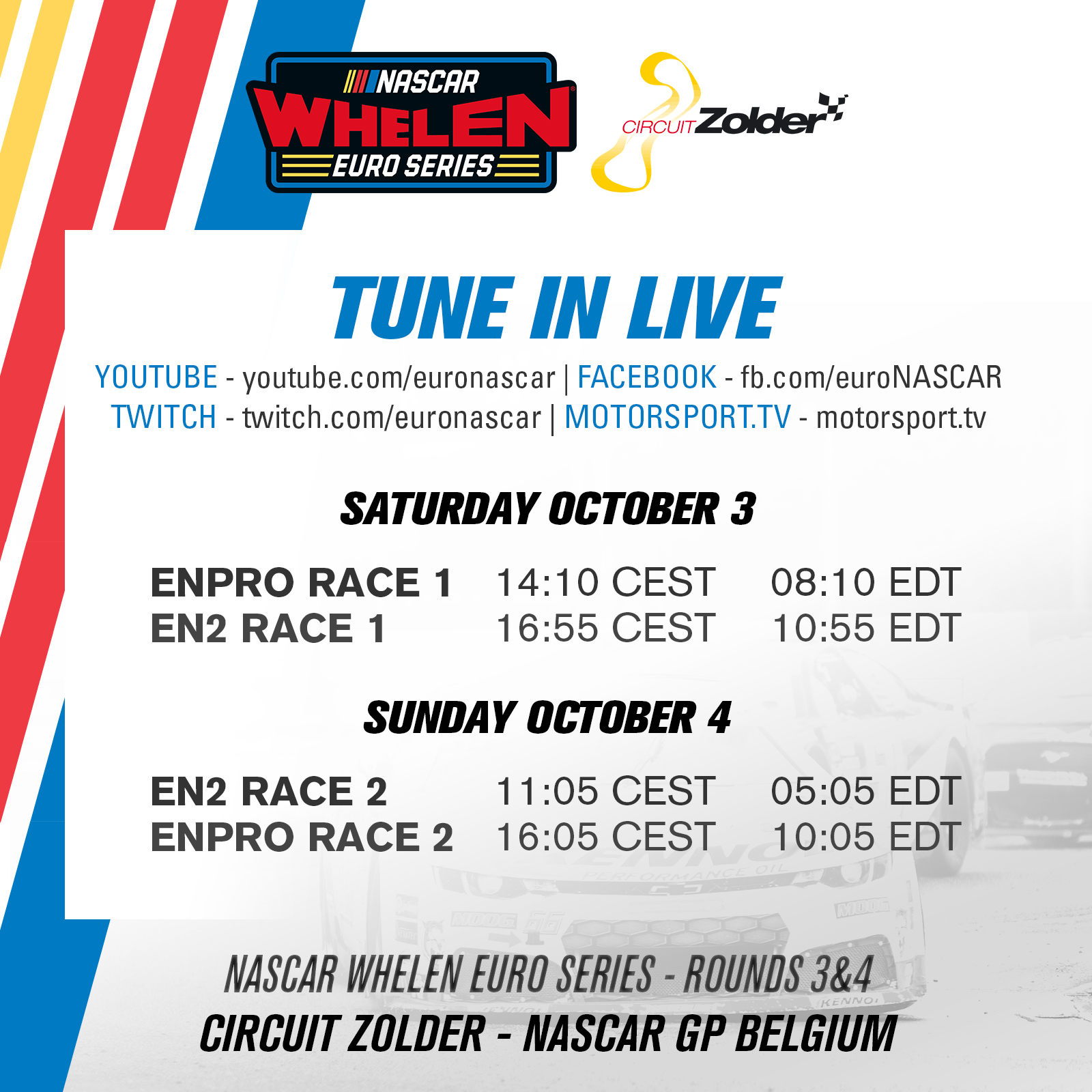 Streaming Schedule Square Zolder 2020