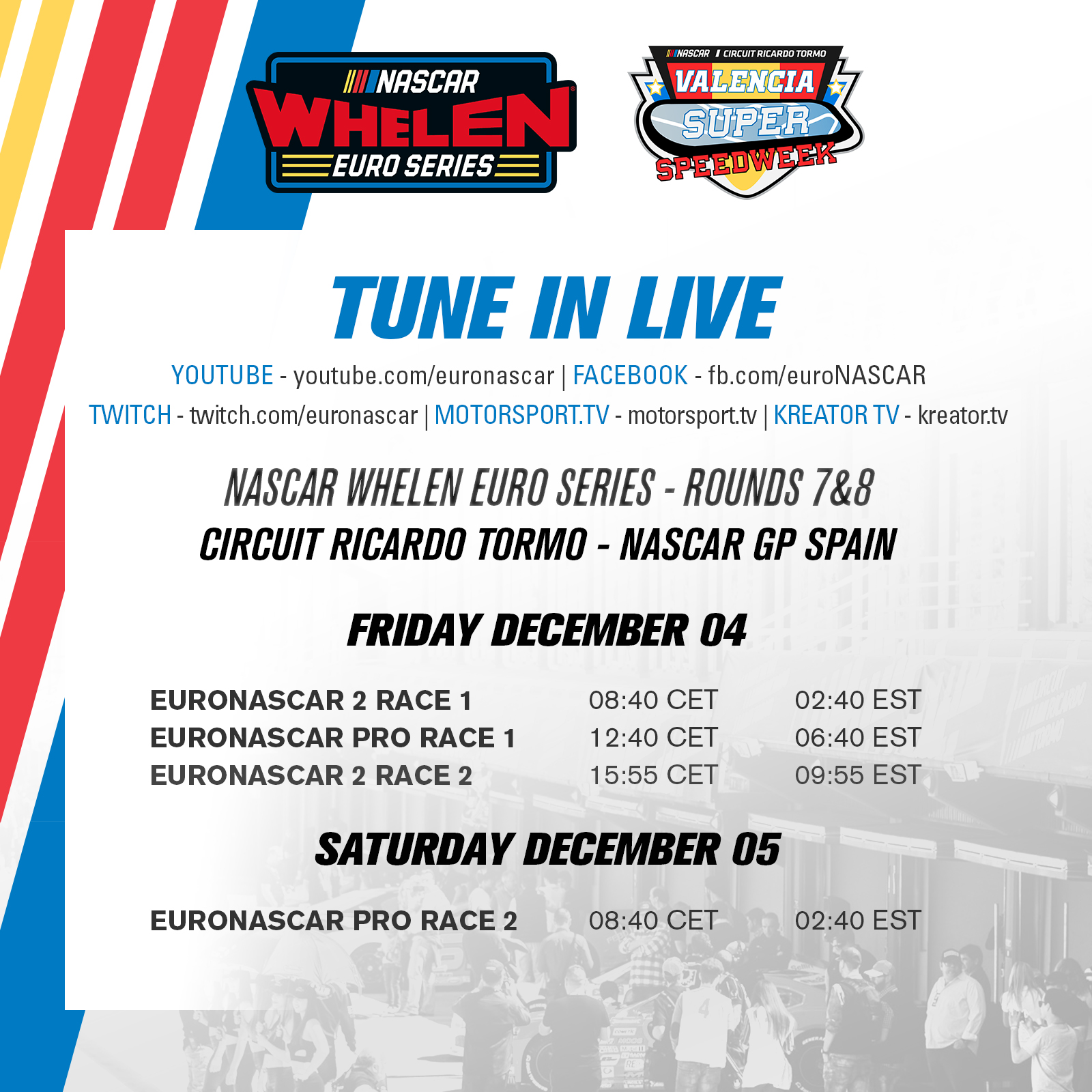 Streaming Schedule Square Nascar Gp Sspain 2020