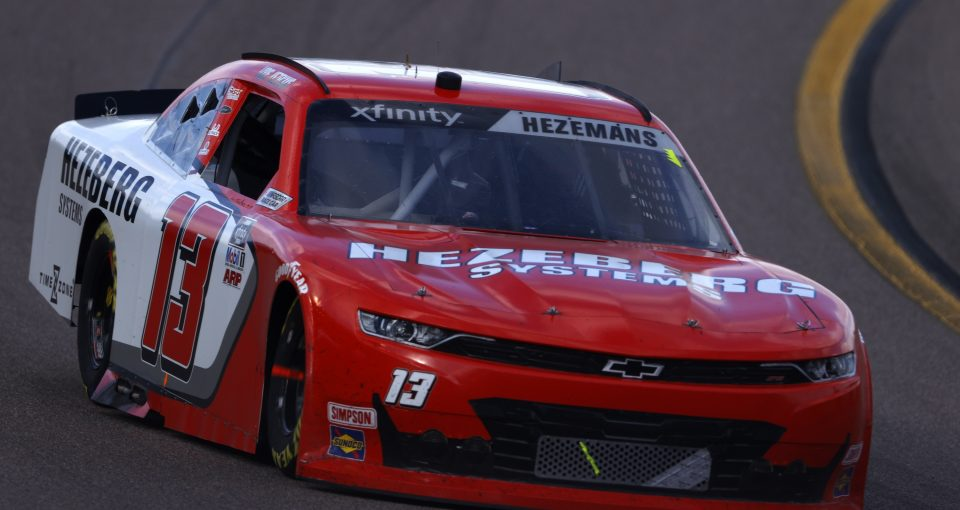 AVONDALE, ARIZONA - MARCH 13: Loris Hezemans, driver of the #13 Hezeberg Systems Chevrolet, drives during the NASCAR Xfinity Series Call 811 Before You Dig 200 presented by Arizona 811 at Phoenix Raceway on March 13, 2021 in Avondale, Arizona. (Photo by Christian Petersen/Getty Images)   Getty Images